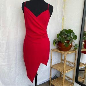 Red asymmetrical dess